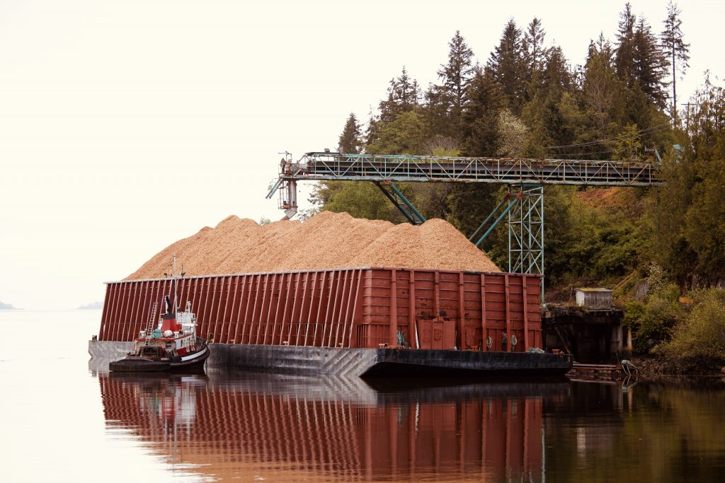 Paper Excellence loads first barge of waste chips produced by Atli Chip Limited Partnership