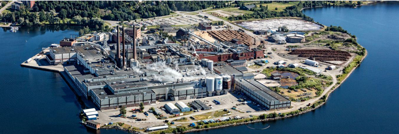 SCA остановила бумагоделательную машину на фабрике в Швеции
