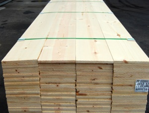 100 mm x 300 mm x 4000 mm KD Heat Treated Siberian Pine Lumber