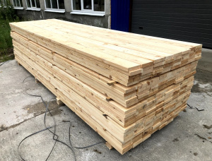 Scots Pine Anti-slip decking 32 mm x 140 mm x 4000 mm