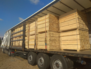 Spruce-Pine (S-P) Packaging timber 22 mm x 98 mm x 1200 mm