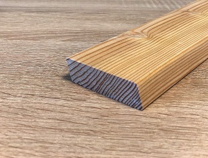 SIBERIAN LARCH CLADDING, DECKING KD Lärche 27 mm x 32 mm x 6 m
