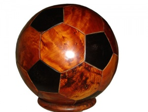 Thuya Football Sculptures handmade