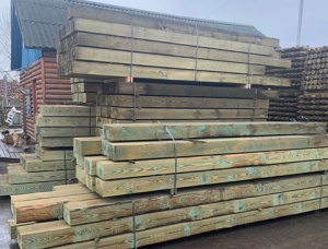 160 mm x 250 mm x 3250 mm AD Pressure Treated Scots Pine Beam