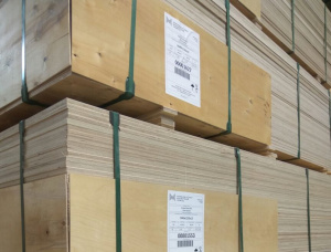 Sanded European larch Exterior Plywood 2440 mm x 1220 mm x 6.5 mm