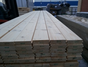 Flooring board (tongue) 40x146x6000