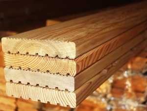 Siberian Larch Terrace board 28 mm x 140 mm x 6000 mm