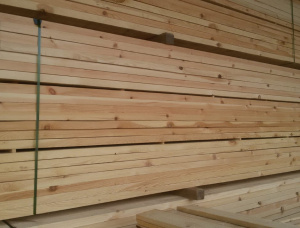 50 mm x 200 mm x 6000 mm KD S4S Heat Treated Scots Pine Lumber