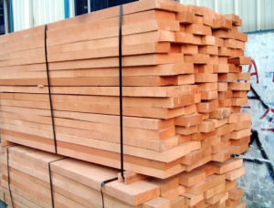 50 mm x 100 mm x 2500 mm AD S4S Heat Treated Teak Lumber