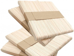 Straight Chinese Red Birch Wooden Drink Stirrers 114 mm x 10 mm x 2 mm