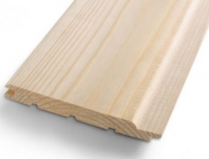 Linings profiled boards Spruce 19 mm x 146 mm x 4 m