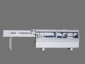 Machine for gluing L-shaped jamb