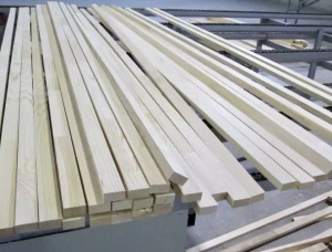 22 mm x 43 mm x 3000 mm KD Heat Treated Birch Lamella