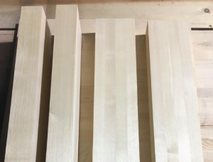 Birch Furniture panel 52 mm x 104 mm x 495 mm