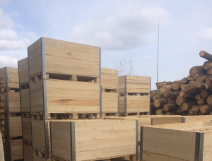 Spruce-Pine (S-P) Wooden crate 800 mm x 1200 mm