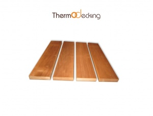 Thermo alder shelves for baths and saunas