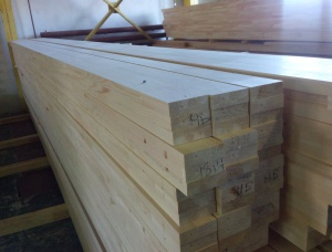 Siberian Pine Glued window scantlings 72 mm x 75 mm x 3000 mm