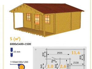 Dry Timber Wall Prefab Garden Cabins (house kits)