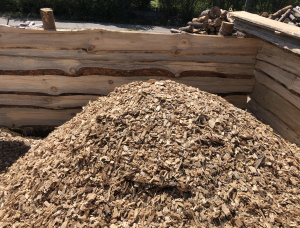 Wood chips from logging