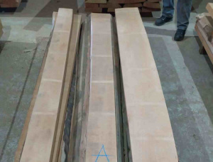 26 mm x 250 mm x 210 mm Beech Flitch