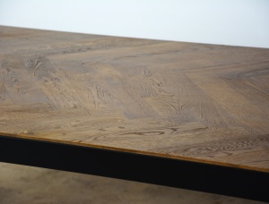 Sztokholm Steel and Oak Table