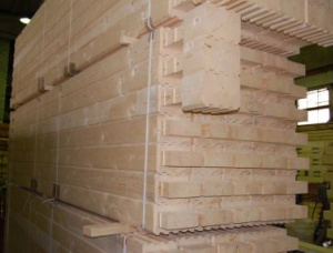 KD Swiss pine Profiled scantlings 100 mm x 190 mm x 6000 mm