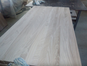 Oak Continuous stave Furniture panel 40 mm x 650 mm x 1000 mm