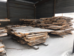 50 mm x 500 mm x 2500 mm Elm Flitch