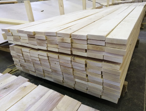 24 mm x 100 mm x 1000 mm KD R/S  Birch Lumber