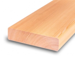 Terrace board, larch 24 mm x 140 mm x 5.1 m