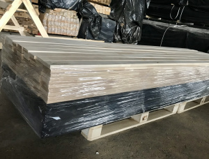 20 mm x 120 mm x 3000 mm KD Heat Treated Birch Lamella