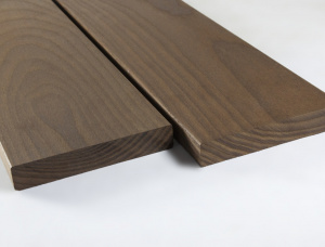 Brown Ash Anti-slip decking 20 mm x 120 mm x 3000 mm