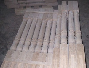 Oak Staircase Pillars 18 mm x 300 mm x 1200 mm