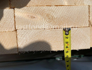 44 mm x 250 mm x 6000 mm KD R/S Heat Treated European spruce Lumber