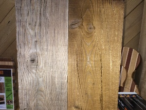 Thermally Modified Larch Barnwood Boards KD 1 in x 10 in x 96 in