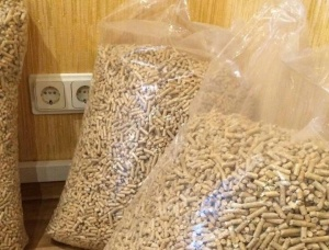 Wood pellets. 6 mm