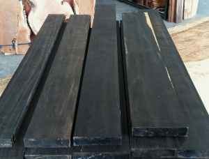 10 mm x 70 mm x 530 mm AD Pressure Treated Ebony (Ebène) Joinery Board