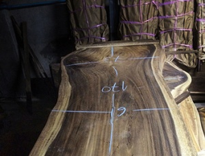 Acacia wood slab for dining table 800 mm x 1500 mm