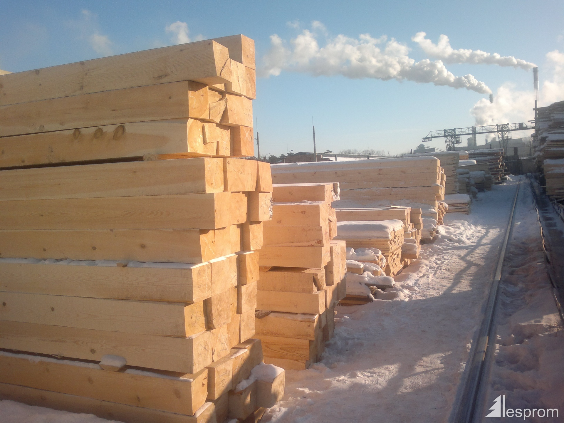 Logs cylindered - an excellent building material