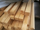 Sawn beams dried