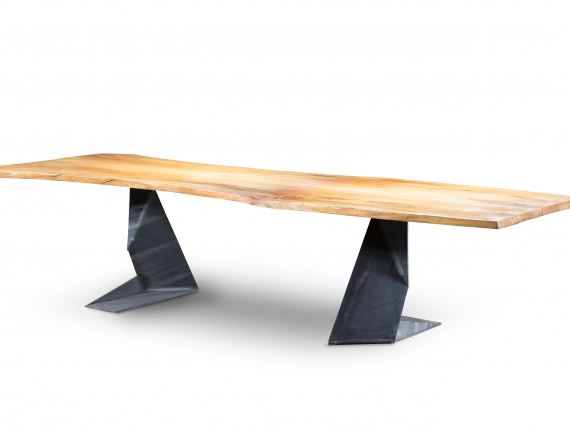 Elm table from solid wood