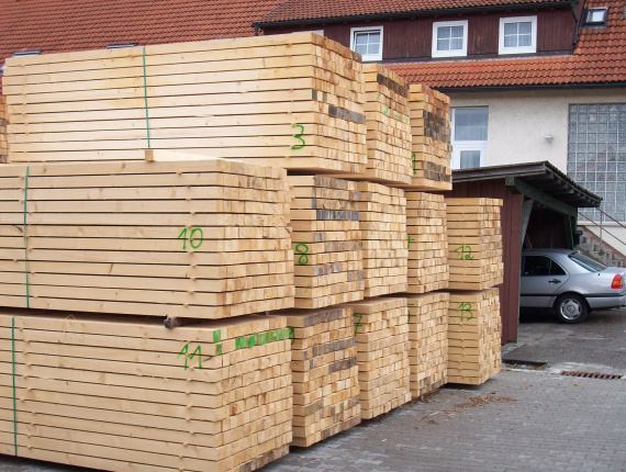 European spruce Pallet timber 80 mm x 100 mm x 4000 mm