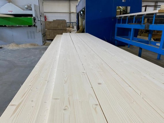 Straight Glulam Beam European spruce 80 mm x 90 mm x 6 m