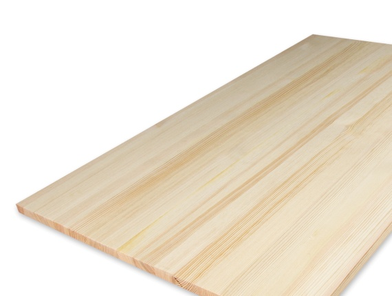 Scots Pine 1 Ply Solid Wood Panel 18 mm x 500 mm x 2000 mm