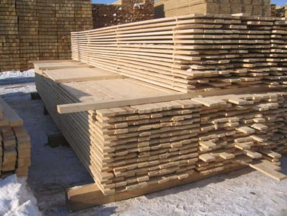 Square-edged lumber