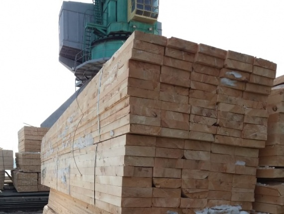 timber in the Astrakhan port