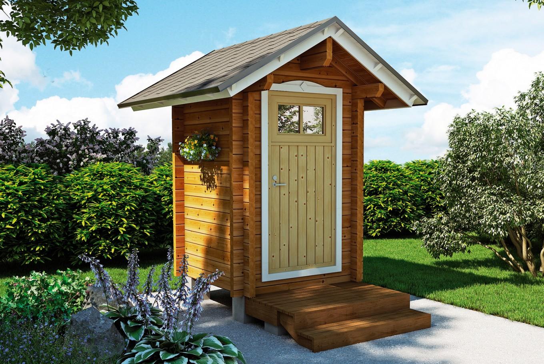 Туалет домиком на даче